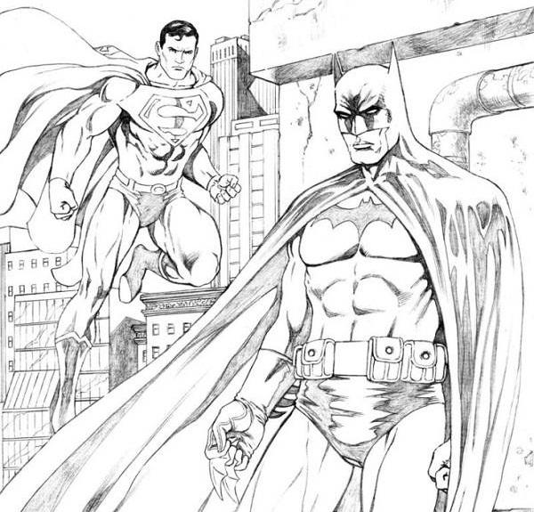 Супермен и бетмен Раскраски для мальчиков