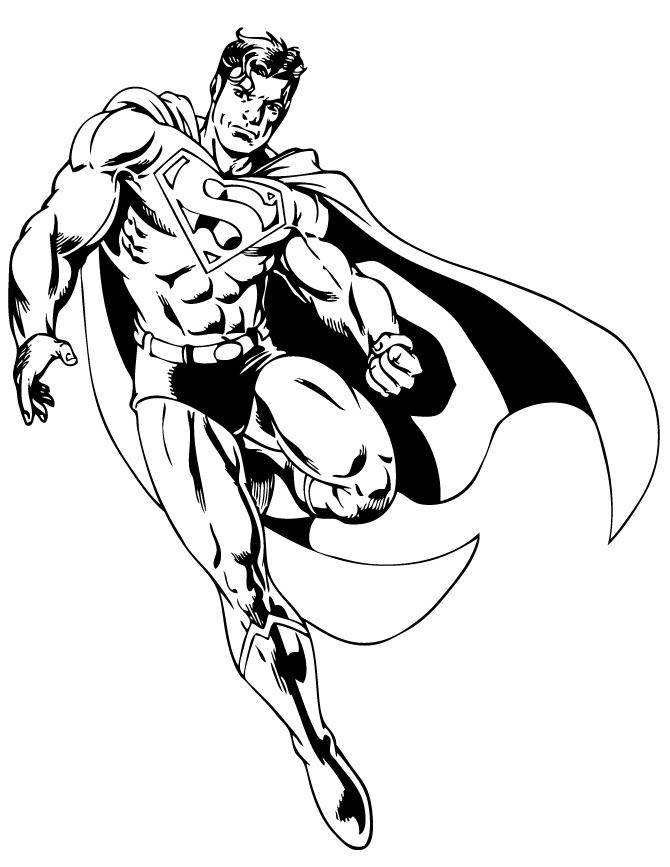 Супермен Раскраски для мальчиков