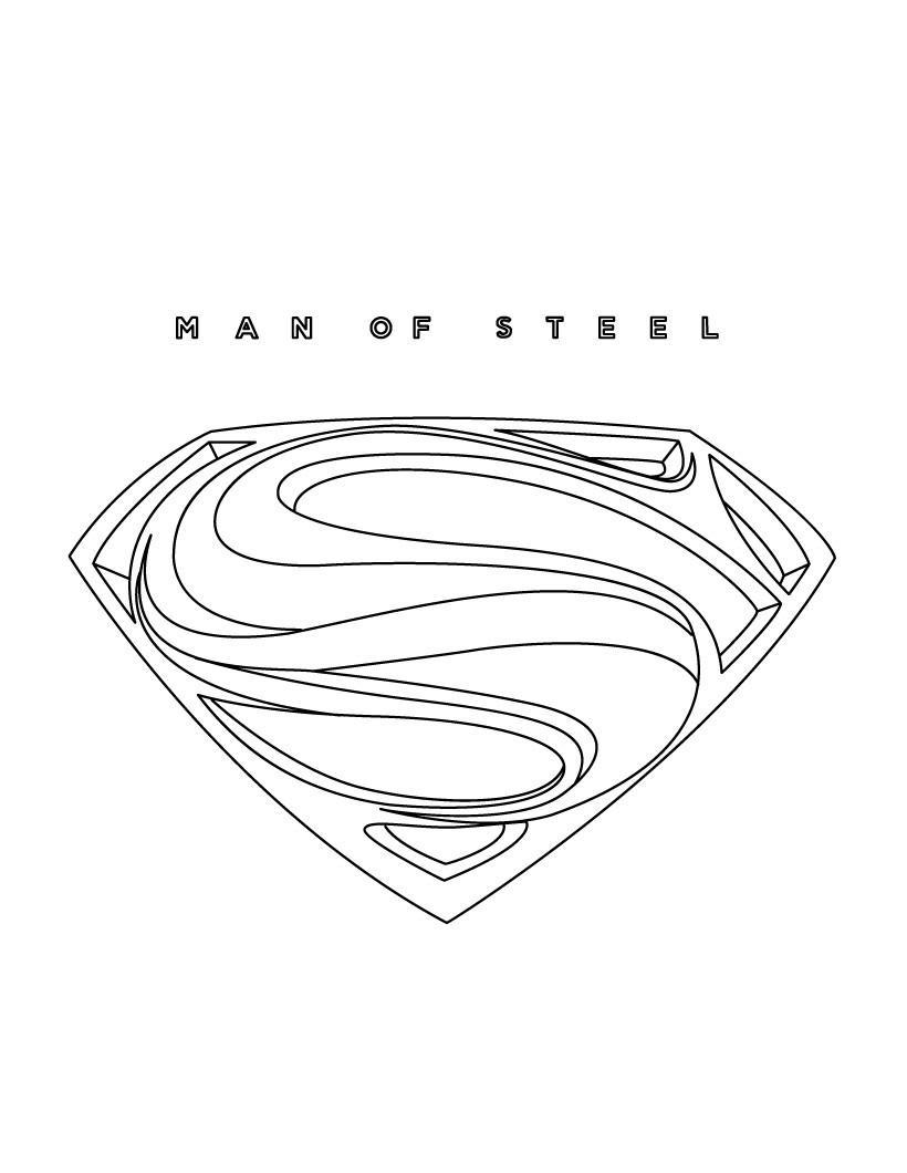 Супермен эмблема Раскраски для мальчиков