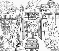 Динозавры в парке юрского периода Раскраски для мальчиков бесплатно