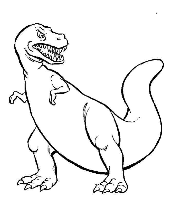 Динозавр Раскраски для мальчиков