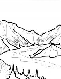 Горы Раскраски для детей мальчиков