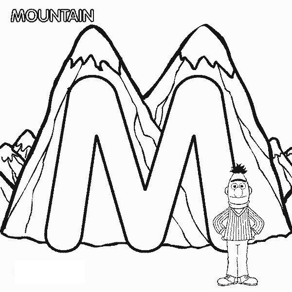 Человек в горах Раскраски для детей мальчиков