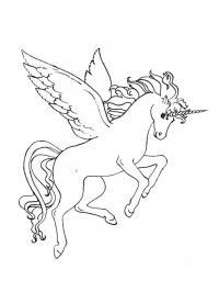 Единорог с крыльями, пегас с рогом Раскраски для детей мальчиков