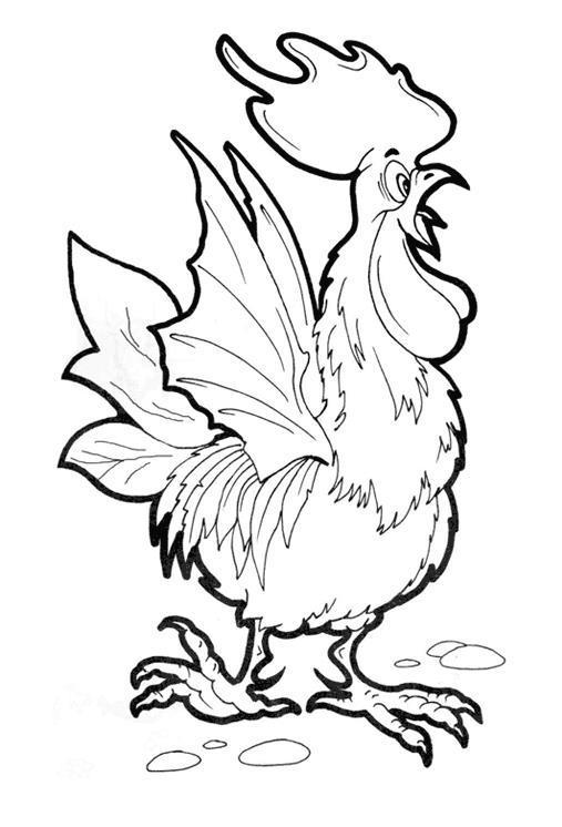 Петух с крыльями летучей мыши Раскраски для детей мальчиков