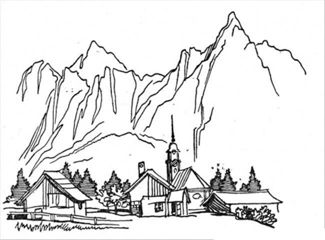 Дома в горах Раскраски для детей мальчиков
