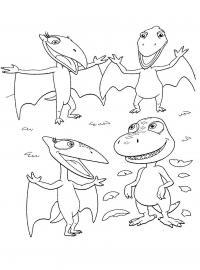 Поезд динозавров, детеныши вылупились, скорлупки Раскраски для детей мальчиков