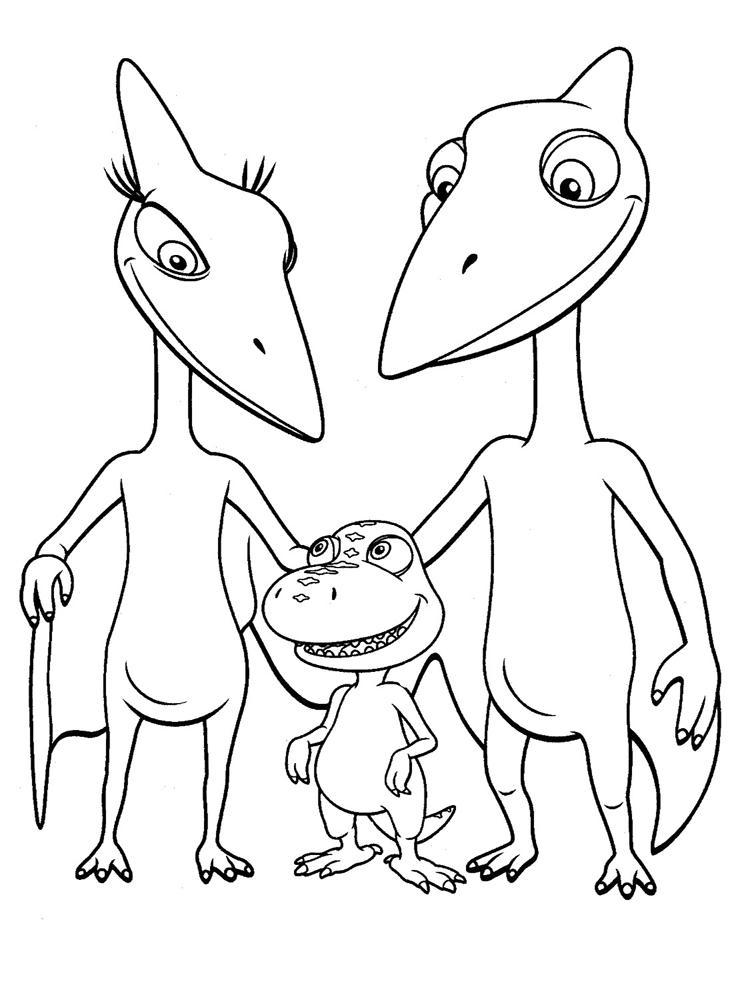 Поезд динозавров Раскраски для детей мальчиков