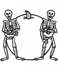 Два скелета Раскраски для мальчиков