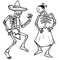 Скелеты танцуют Раскраски для мальчиков