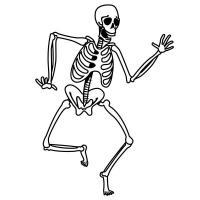 Скелет пляшет Раскраски для мальчиков бесплатно