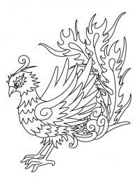 Птица феникс Раскраски для детей мальчиков