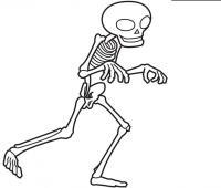 Крадущийся скелет Раскраски для мальчиков бесплатно