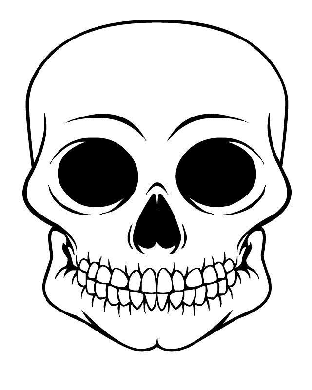 Широкий череп Скачать раскраски для мальчиков