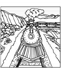 Поезда Распечатать раскраски для мальчиков