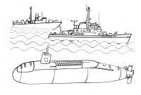 Корабли и подводные лодки Раскраски для мальчиков