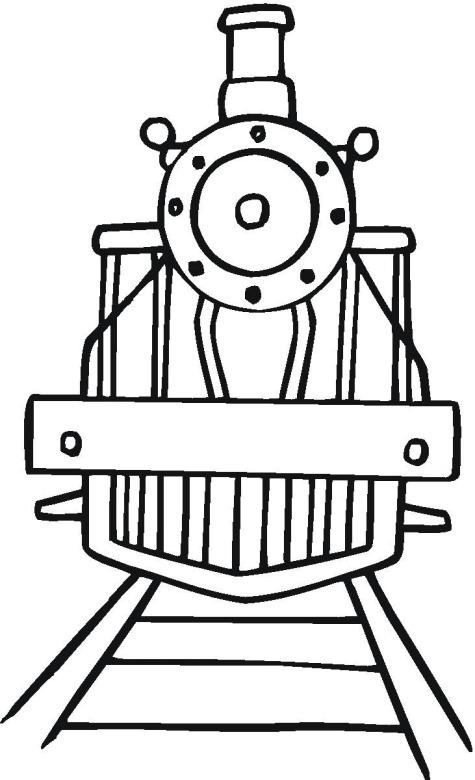 Поезд вид спереди Распечатать раскраски для мальчиков