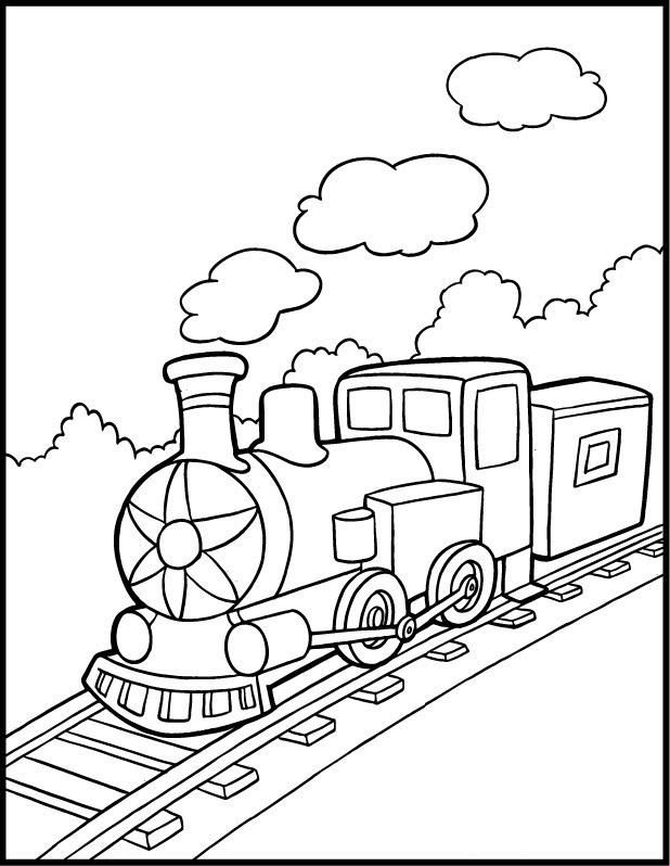 Поезд дымит Распечатать раскраски для мальчиков