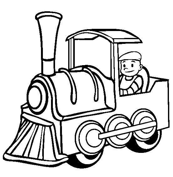 Машинист поезда Распечатать раскраски для мальчиков