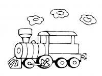 Поезд с кольцами дыма Распечатать раскраски для мальчиков