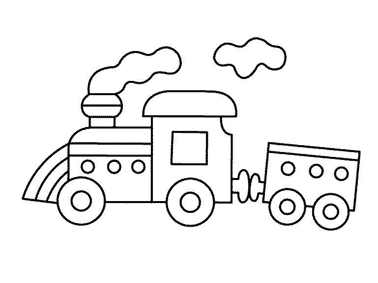 Игрушечный поезд Распечатать раскраски для мальчиков
