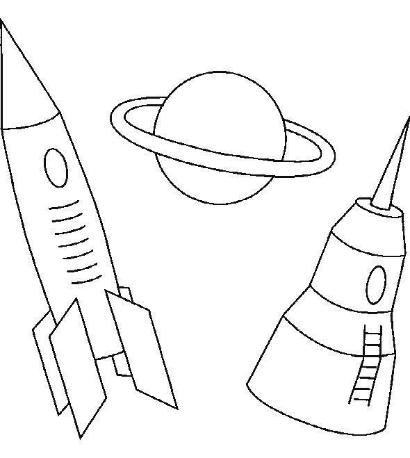 Спутнк, ракета, планета Скачать раскраски для мальчиков