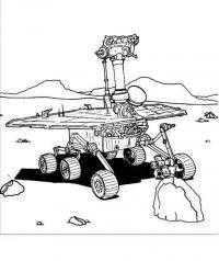 Робот исследоватеь на марсе Раскраски для детей мальчиков