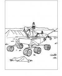 Робот исследователь на луне Раскраски для детей мальчиков