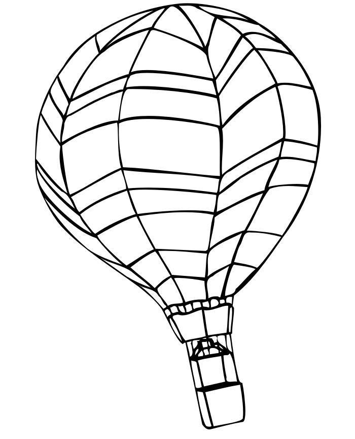 Воздушный шар Раскраски для мальчиков бесплатно