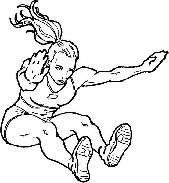 Прыжки в длину, девушка Раскраски для мальчиков бесплатно