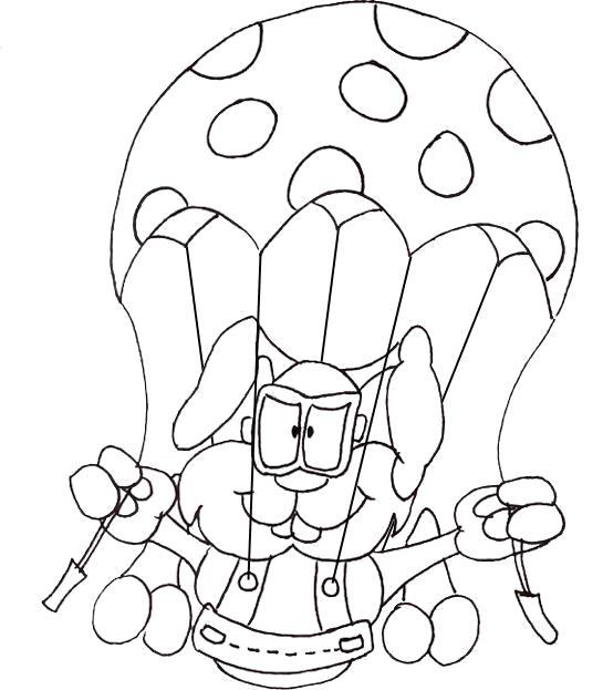 Кролик парашютист Раскраски для мальчиков бесплатно