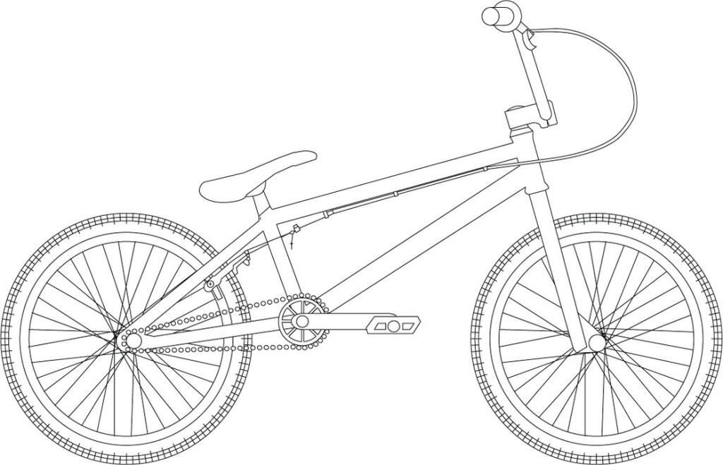 Велосипед Раскраски для детей мальчиков
