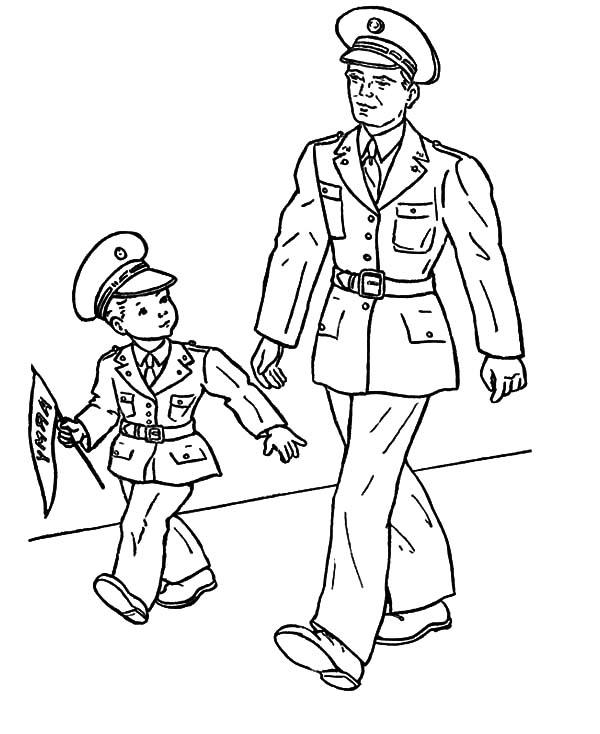 На параде Раскраски для детей мальчиков