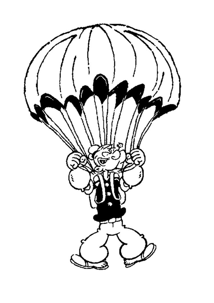 Клоун на парашюте Раскраски для мальчиков бесплатно