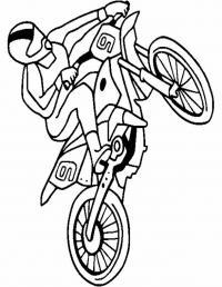 Мотоспорт, езда на заднем колесе Раскраски для мальчиков бесплатно
