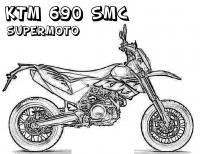 Супермото, мотоцикл ктм690 Распечатать раскраски для мальчиков
