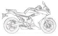 Мотоцикл, байк Распечатать раскраски для мальчиков
