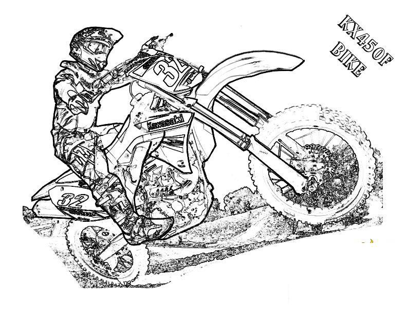 Байкер, мотоцикл, песок, гонки Распечатать раскраски для мальчиков
