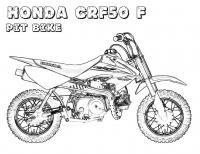 Мотоцикл хонда, байк Распечатать раскраски для мальчиков