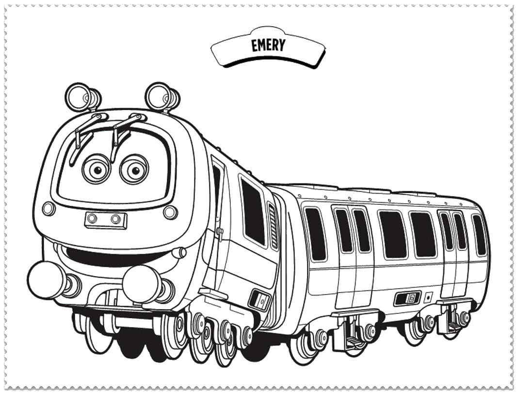Поезд с глазами Раскраски для мальчиков