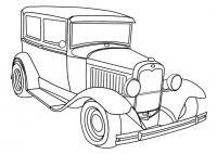 Джип первых моделей Распечатать раскраски для мальчиков