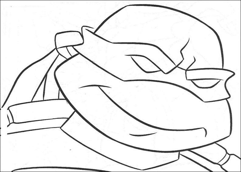 Лицо черепашки ниндзя Раскраски для детей мальчиков