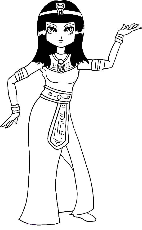 Древний мир, женщина египта Раскраски для мальчиков бесплатно