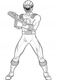 Герой в маске с оружием Распечатать раскраски для мальчиков