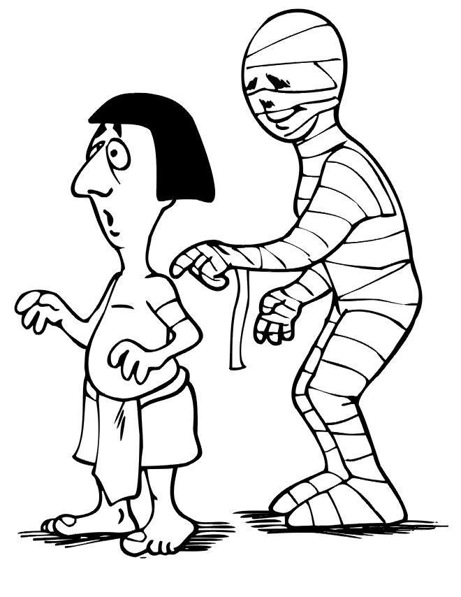 Древний человек и мумия Раскраски для мальчиков