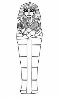 Древний мир, саркофаг, гроб фараона Раскраски для мальчиков