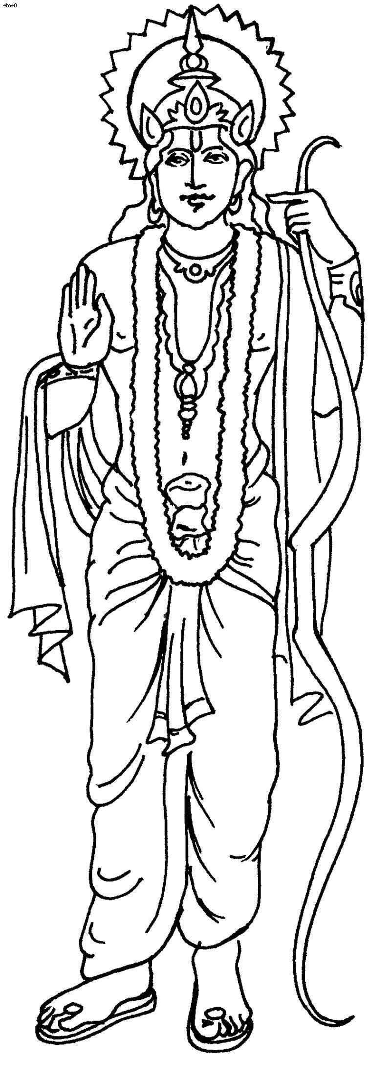 Древний мир, боги индии Раскраски для мальчиков