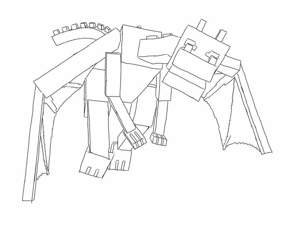 Майнкрафт летящий дракон Скачать раскраски для мальчиков
