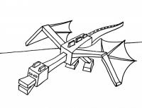 Майнкрафт парящий дракон Скачать раскраски для мальчиков