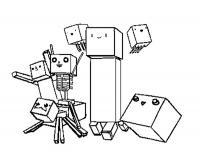 Майнкрафт Скачать раскраски для мальчиков